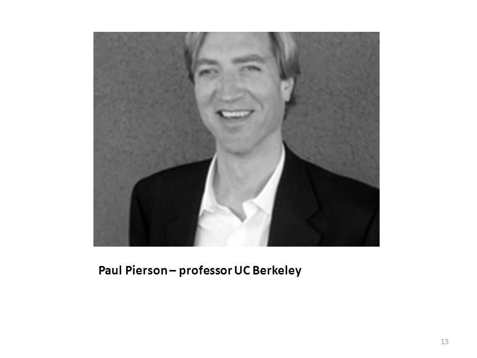 Paul Pierson – professor UC Berkeley