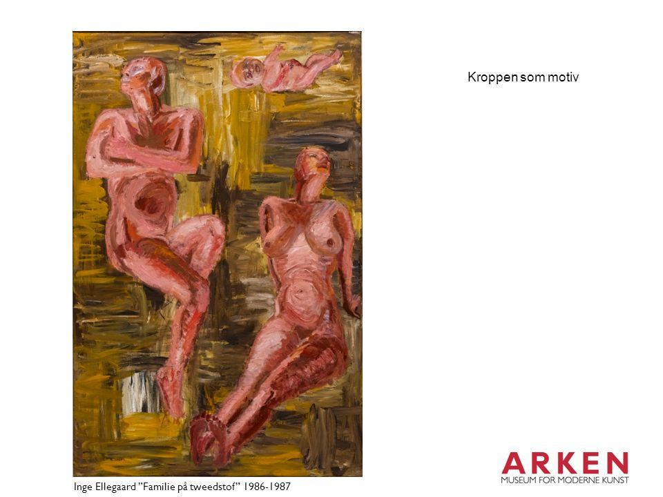 Kroppen som motiv Inge Ellegaard Familie på tweedstof 1986-1987