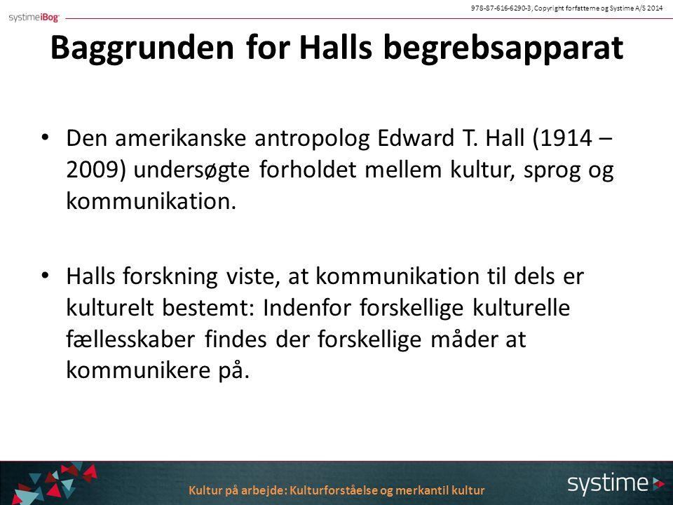 Baggrunden for Halls begrebsapparat