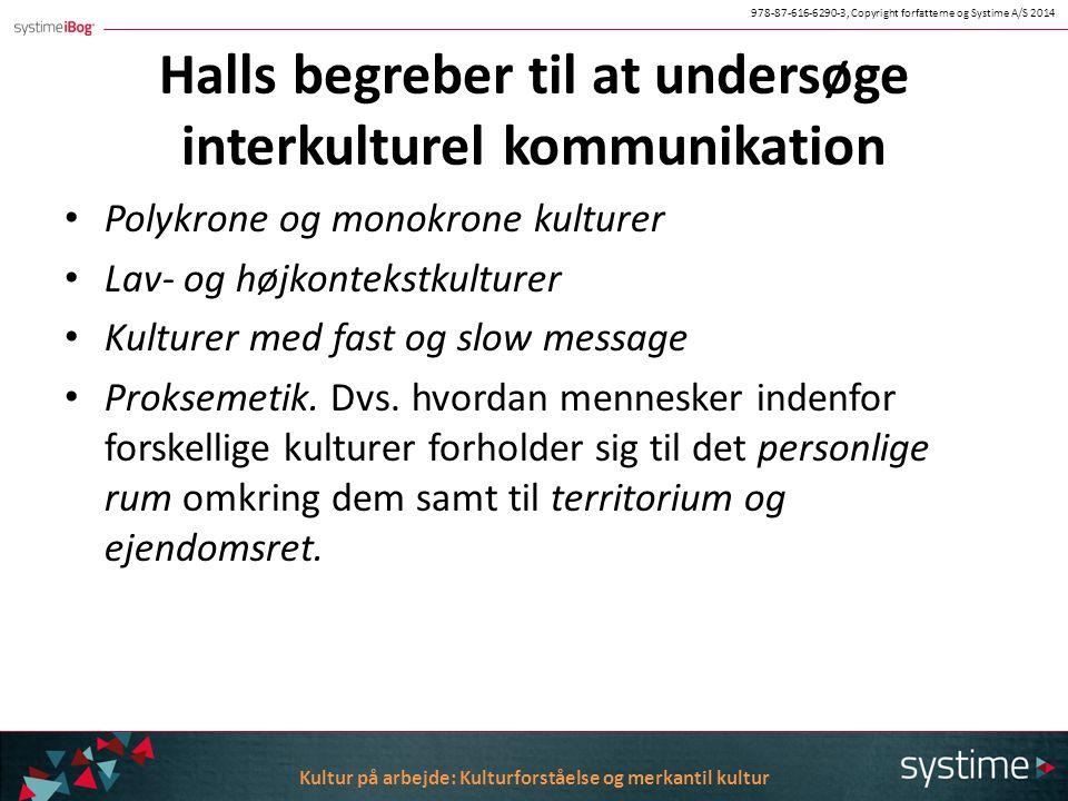 Halls begreber til at undersøge interkulturel kommunikation