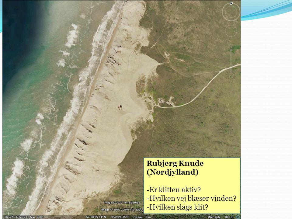 Rubjerg Knude (Nordjylland) Er klitten aktiv Hvilken vej blæser vinden Hvilken slags klit