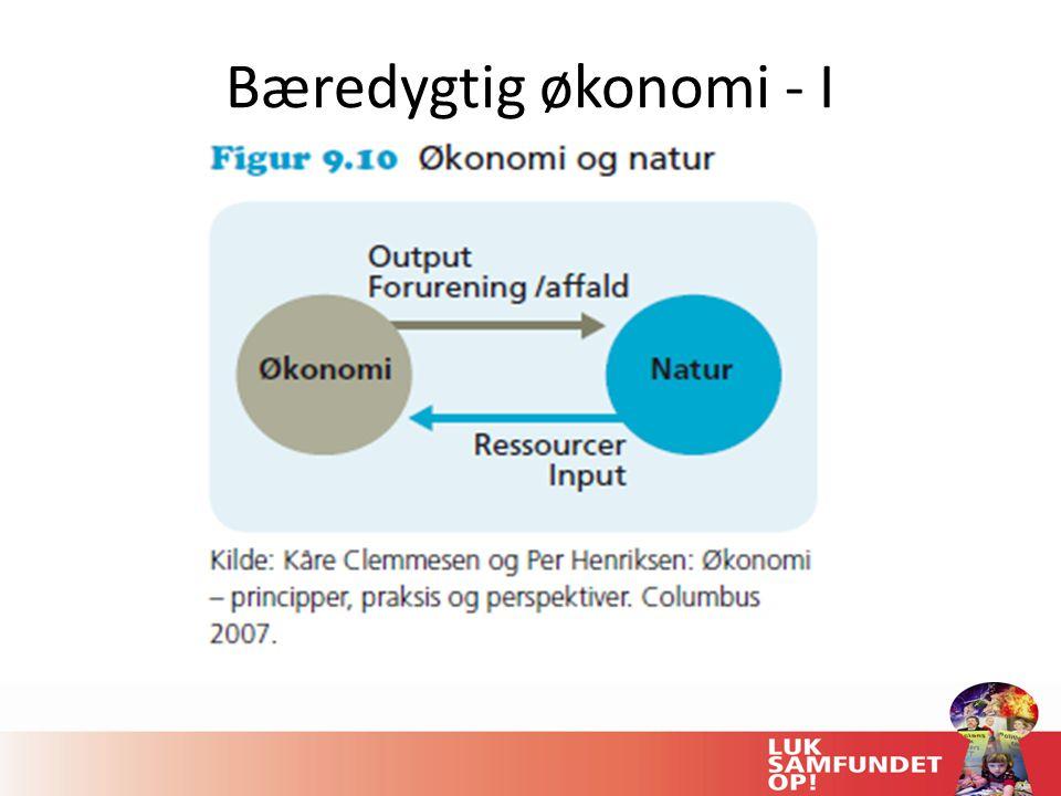 Bæredygtig økonomi - I