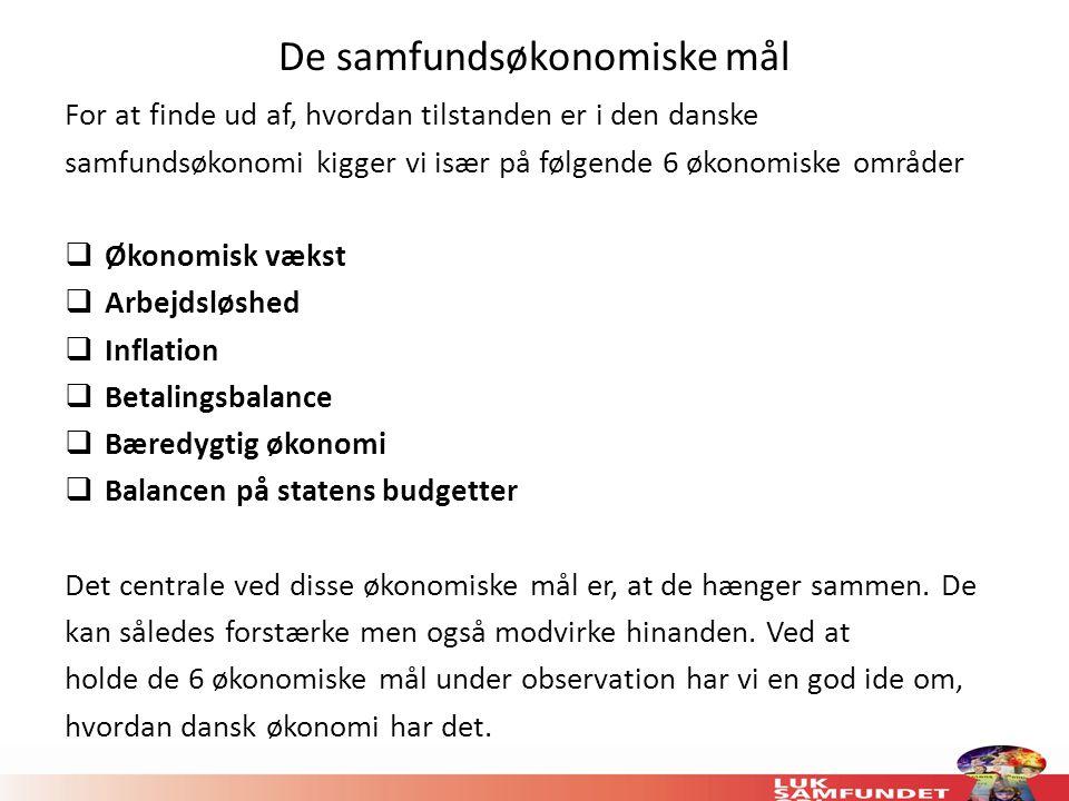 De samfundsøkonomiske mål