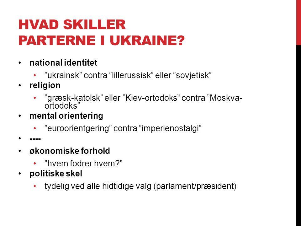 hvad skiller parterne i ukraine