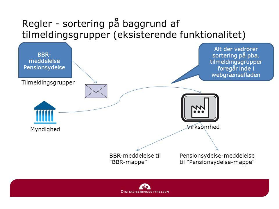 Regler - sortering på baggrund af tilmeldingsgrupper (eksisterende funktionalitet)