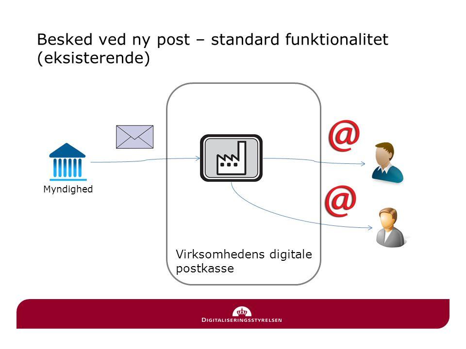 Besked ved ny post – standard funktionalitet (eksisterende)