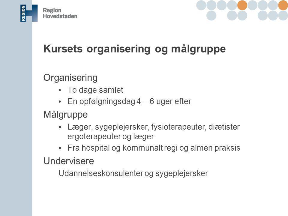 Kursets organisering og målgruppe
