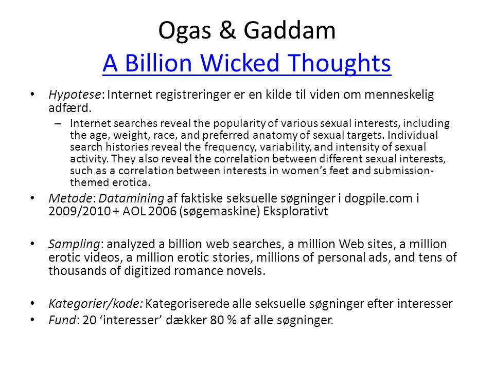 Ogas & Gaddam A Billion Wicked Thoughts