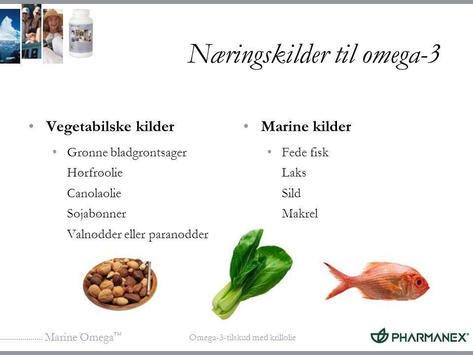 Næringskilder til omega-3