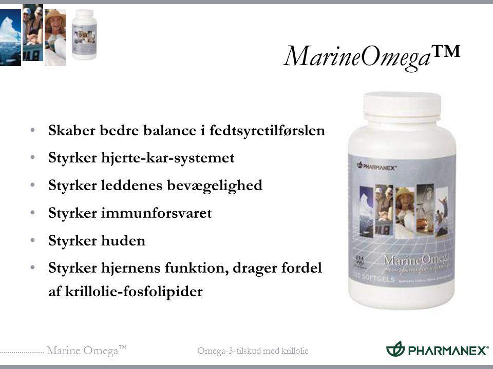 MarineOmega™ Skaber bedre balance i fedtsyretilførslen