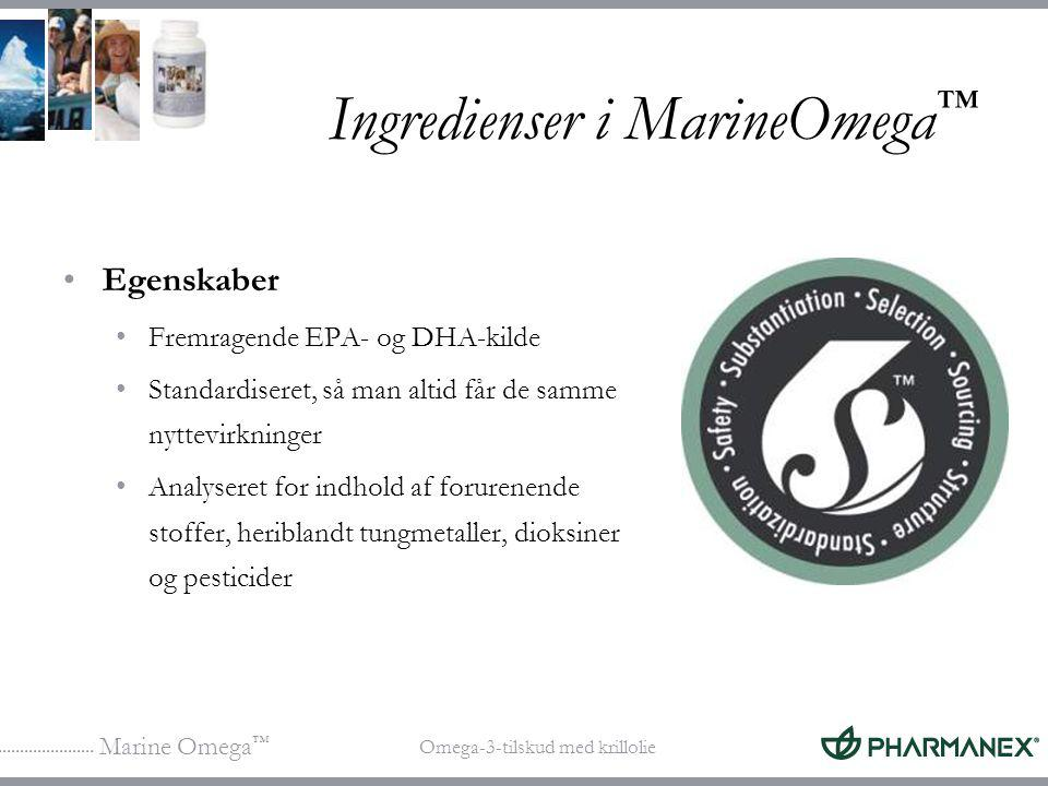 Ingredienser i MarineOmega™