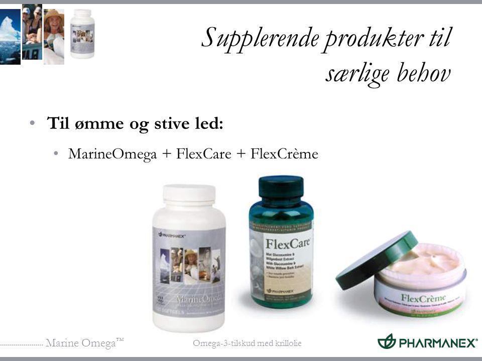 Supplerende produkter til særlige behov
