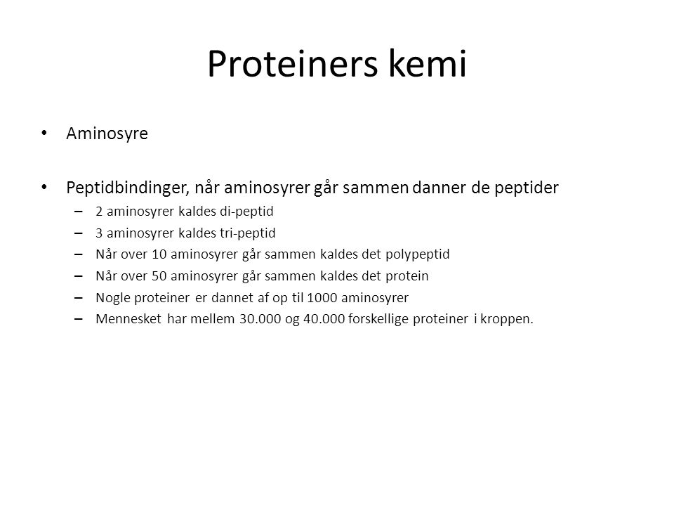 Proteiners kemi Aminosyre
