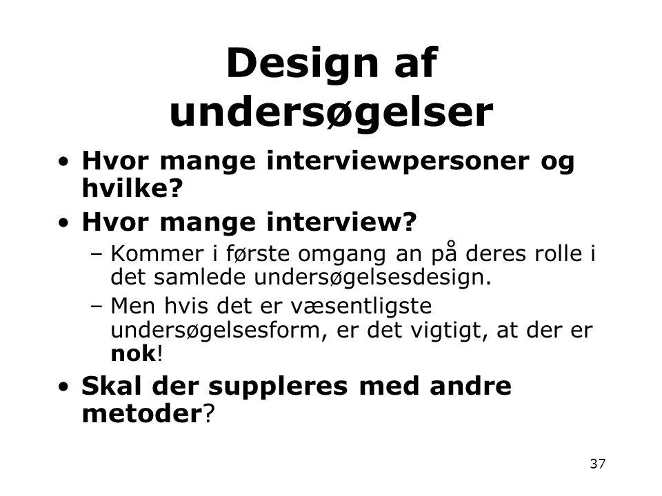 Design af undersøgelser