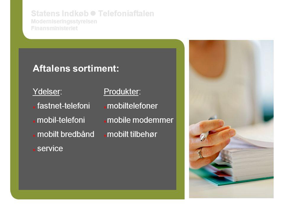 Statens Indkøb  Telefoniaftalen Moderniseringsstyrelsen Finansministeriet