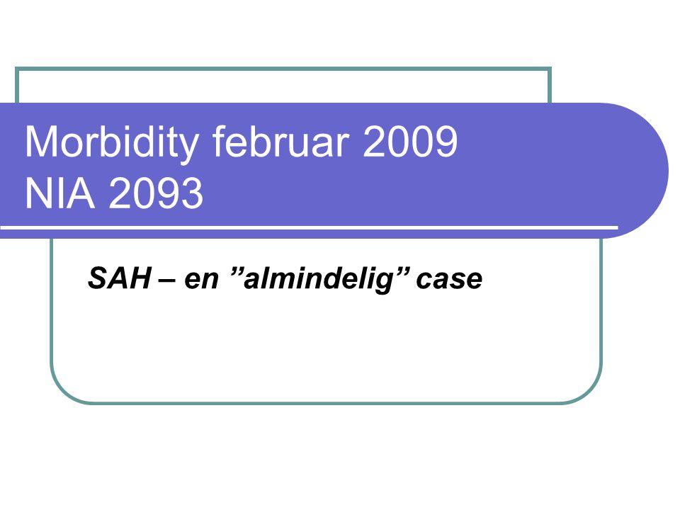 SAH – en almindelig case