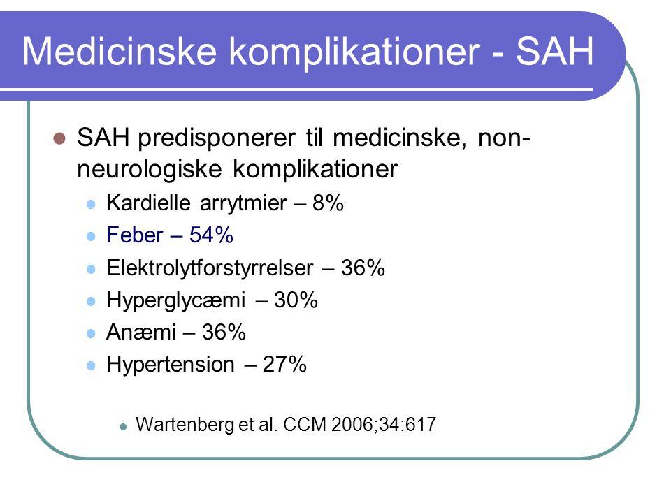 Medicinske komplikationer - SAH