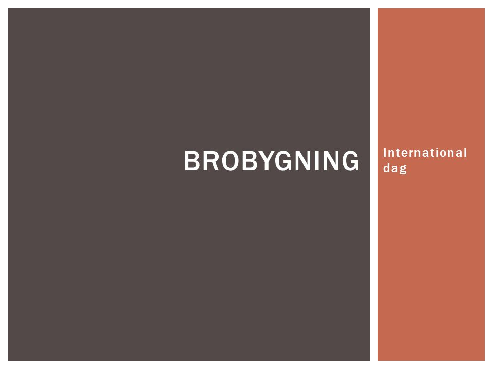 Brobygning International dag
