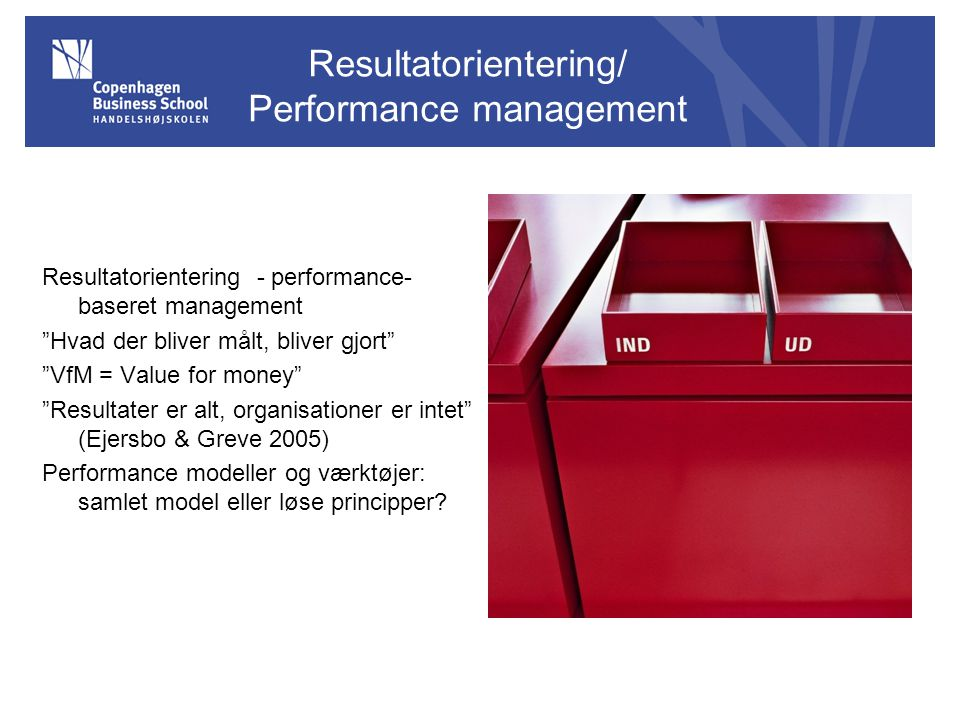 Resultatorientering/ Performance management