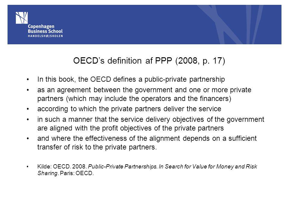 OECD's definition af PPP (2008, p. 17)