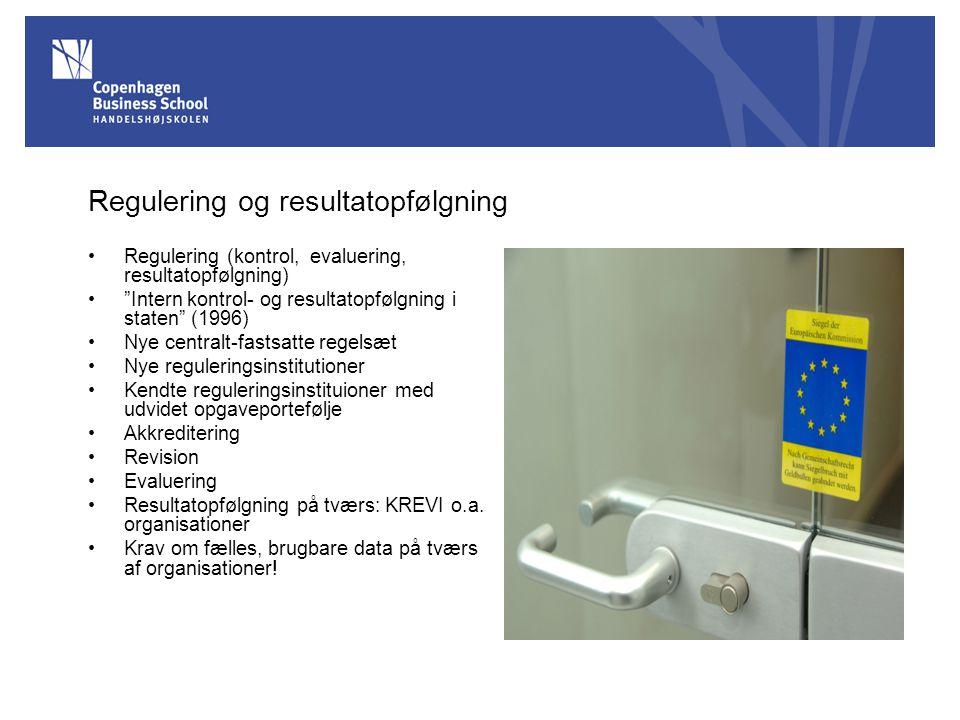 Regulering og resultatopfølgning