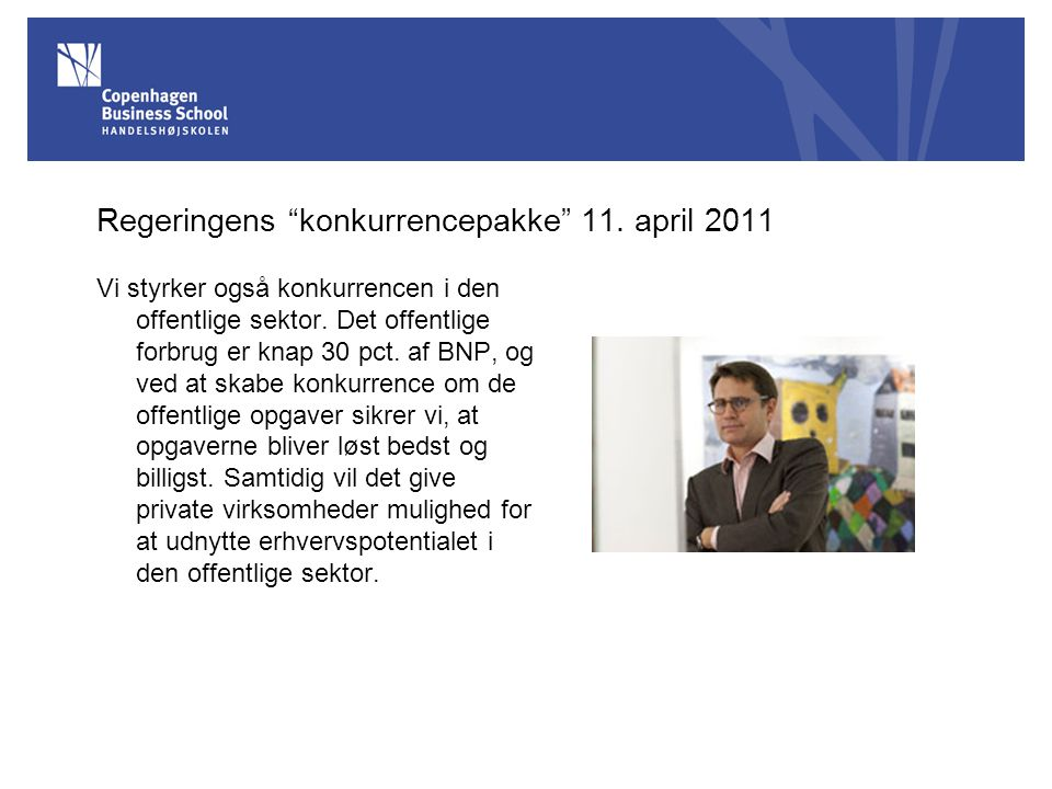 Regeringens konkurrencepakke 11. april 2011