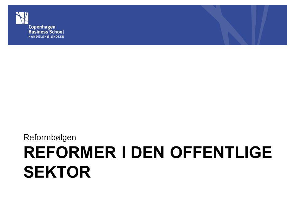 Reformer I den offentlige sektor