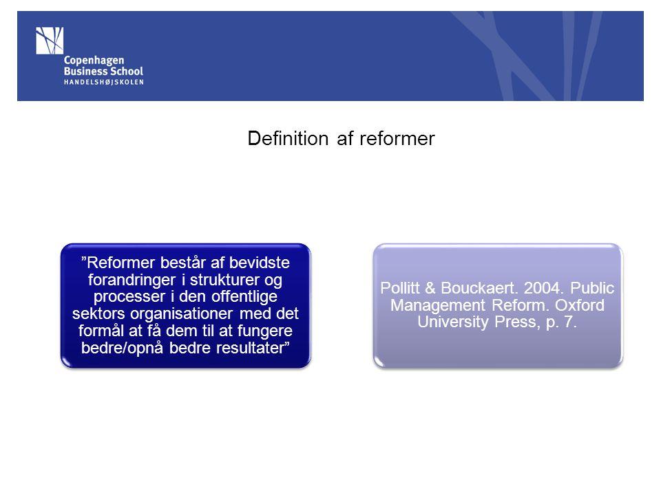 Definition af reformer