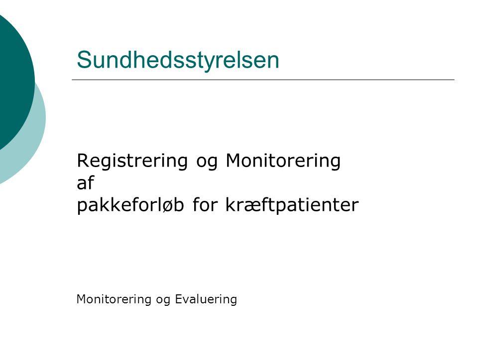 Sundhedsstyrelsen Registrering og Monitorering af