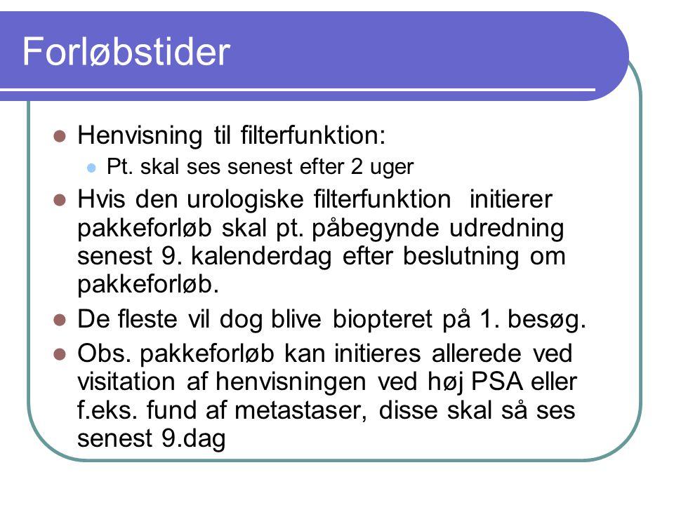 Forløbstider Henvisning til filterfunktion: