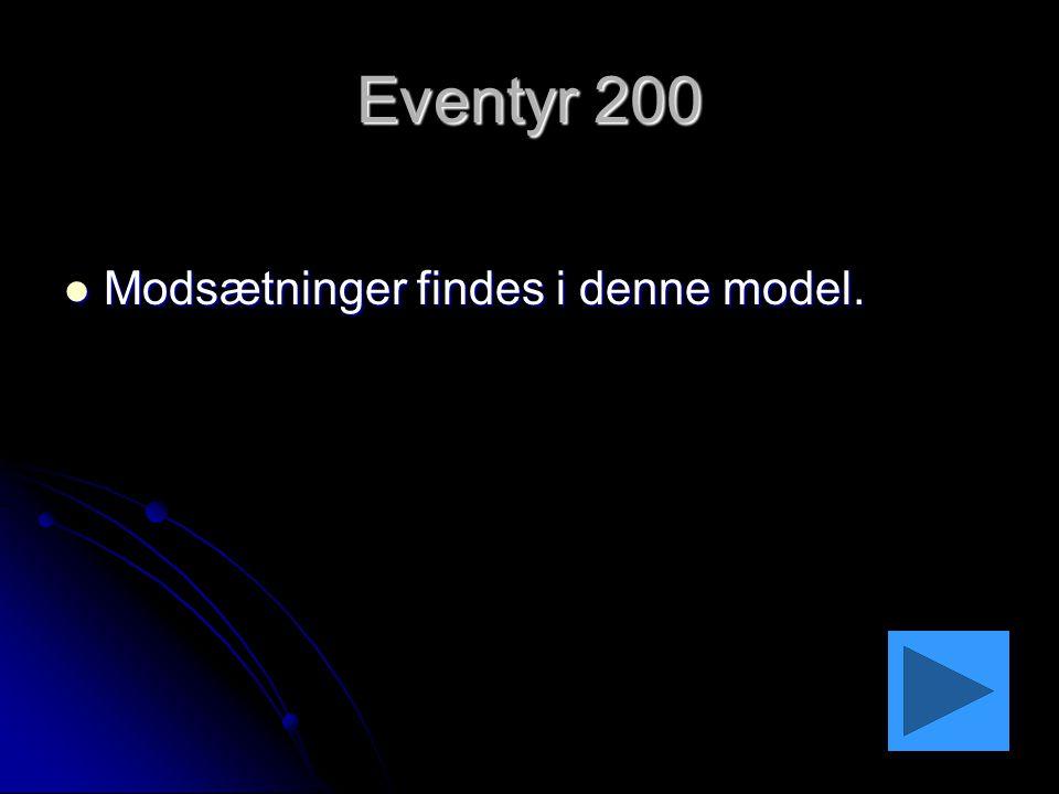 Eventyr 200 Modsætninger findes i denne model.