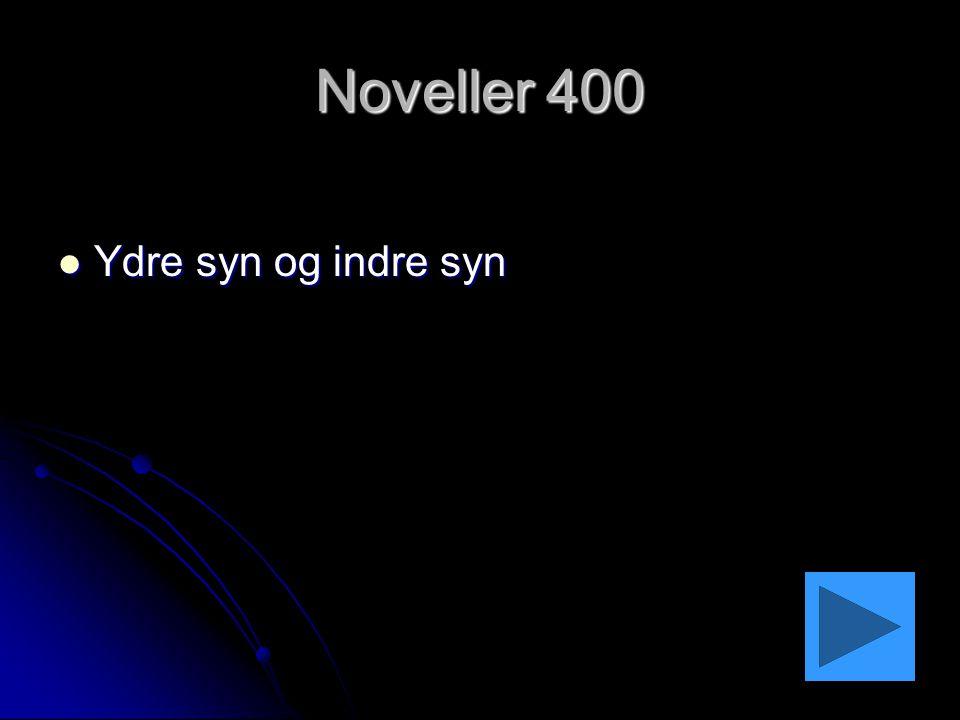 Noveller 400 Ydre syn og indre syn