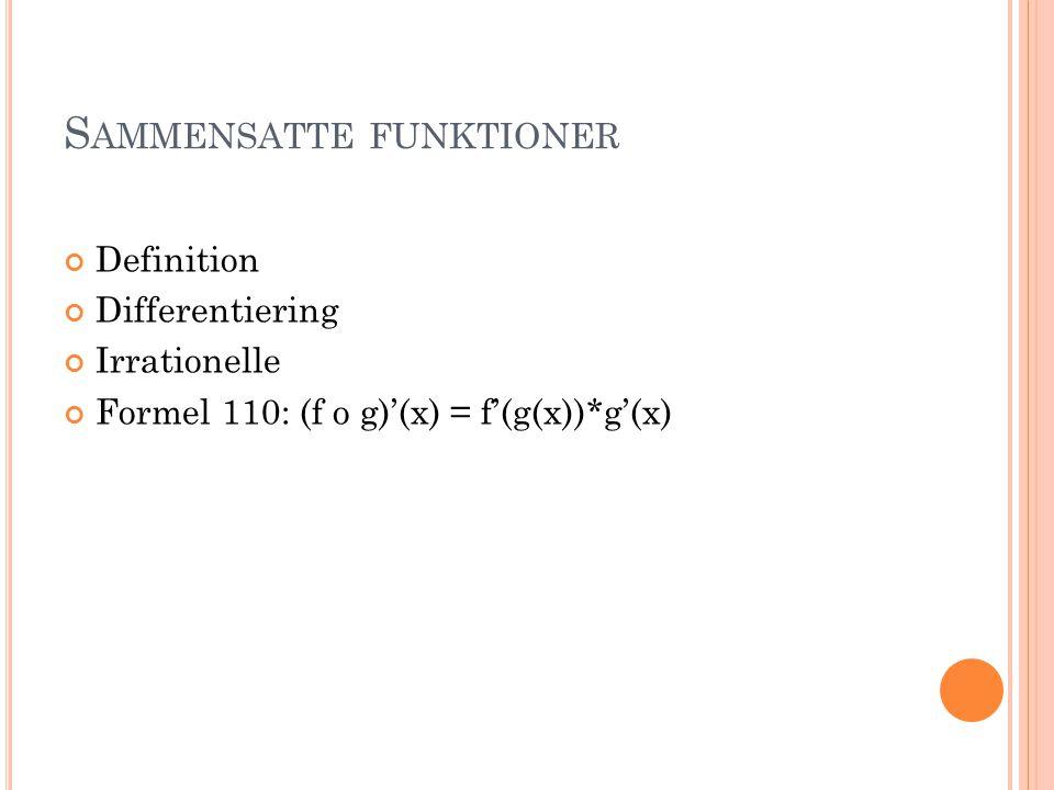Sammensatte funktioner