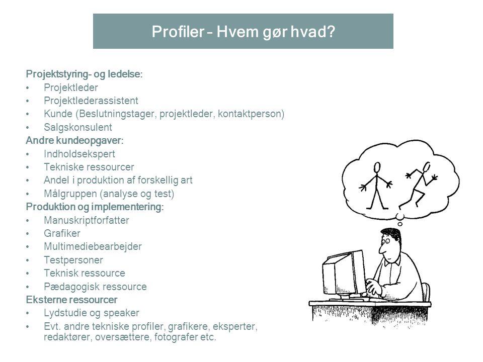 Profiler – Hvem gør hvad