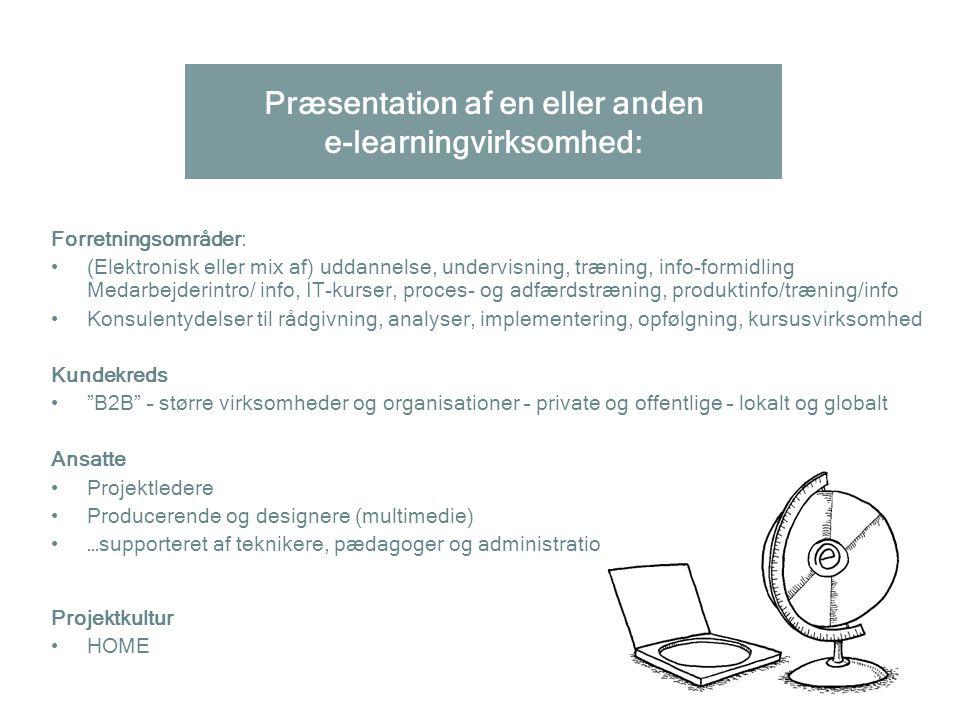 Præsentation af en eller anden e-learningvirksomhed: