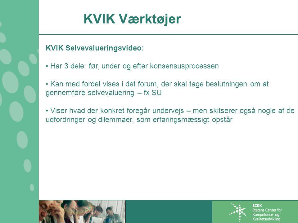 KVIK Værktøjer KVIK Selvevalueringsvideo: