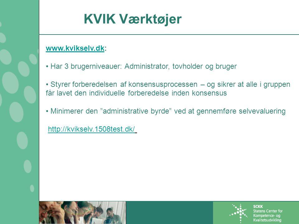 KVIK Værktøjer www.kvikselv.dk: