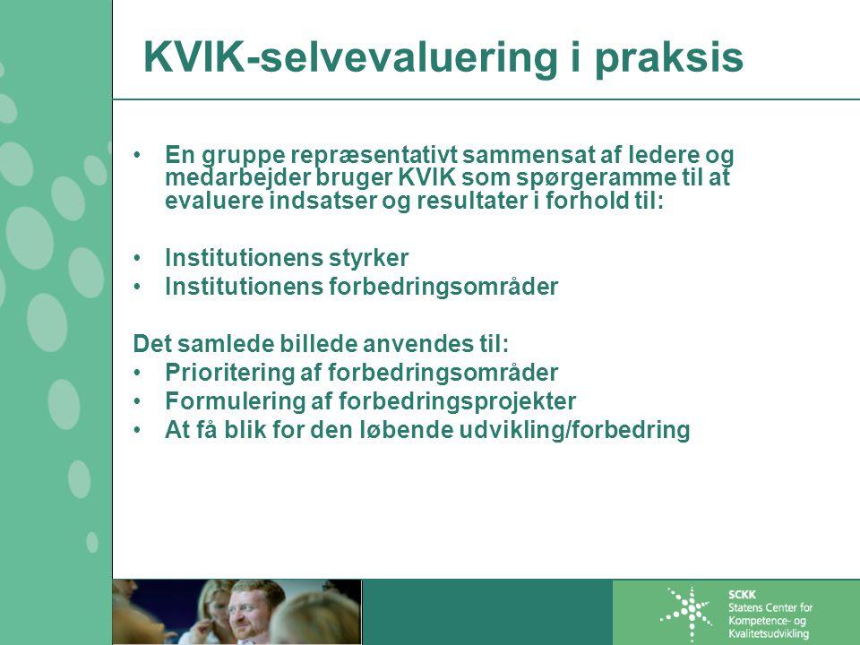KVIK-selvevaluering i praksis