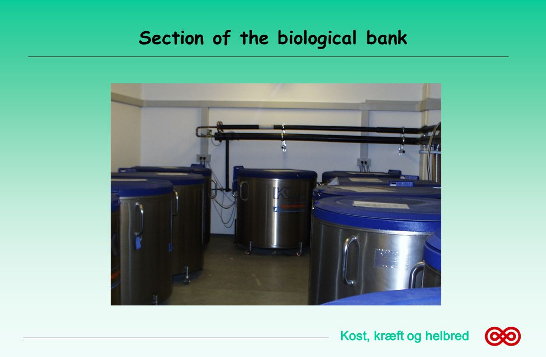 Section of the biological bank