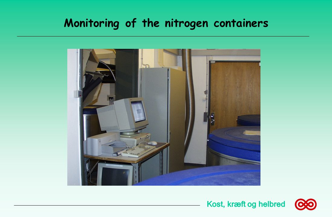 Monitoring of the nitrogen containers