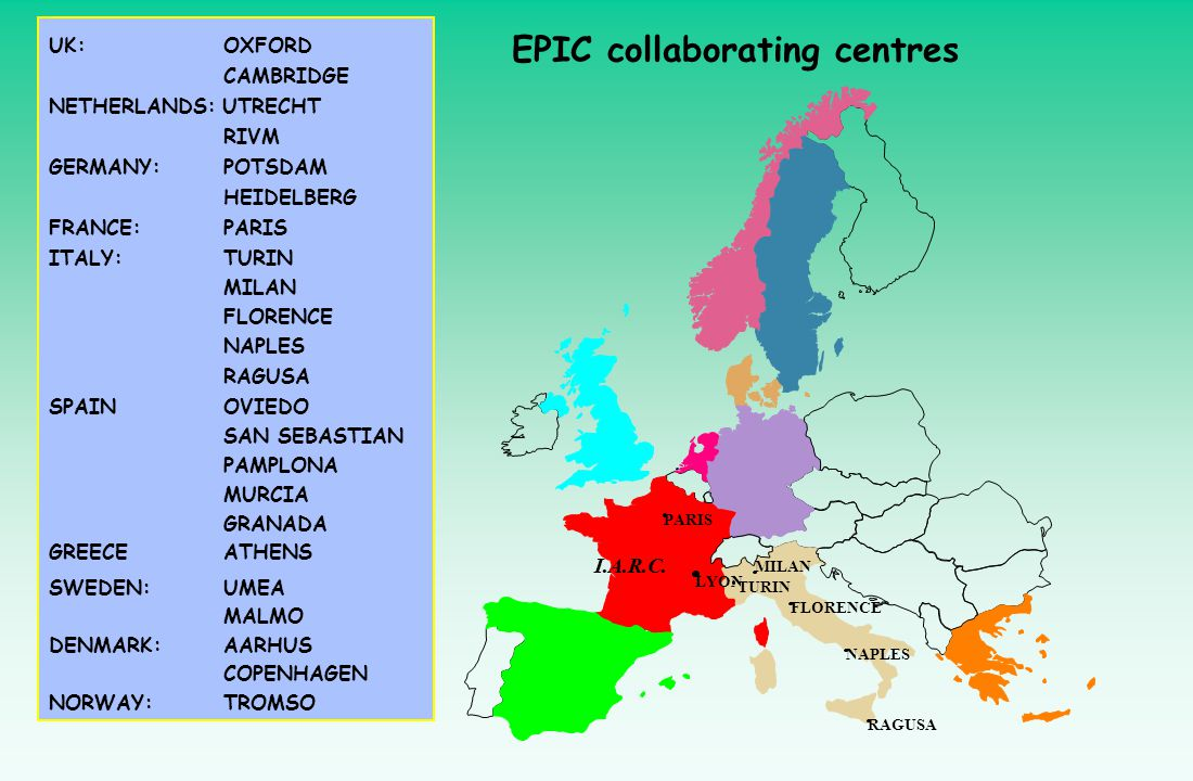 EPIC collaborating centres