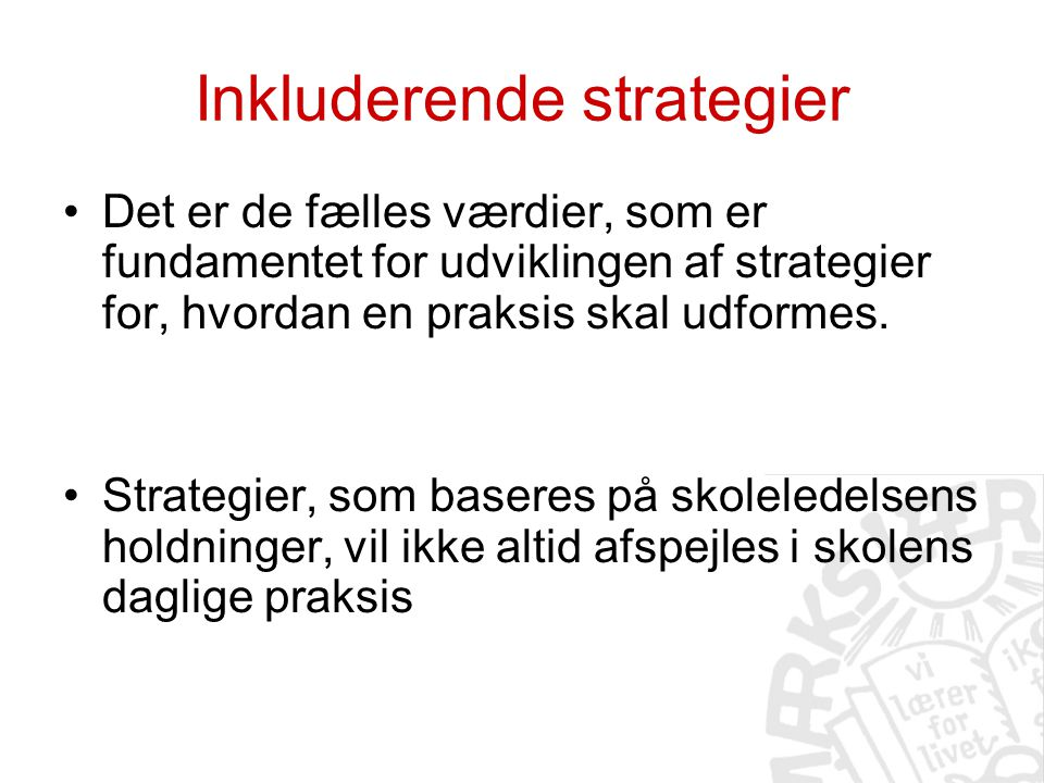 Inkluderende strategier