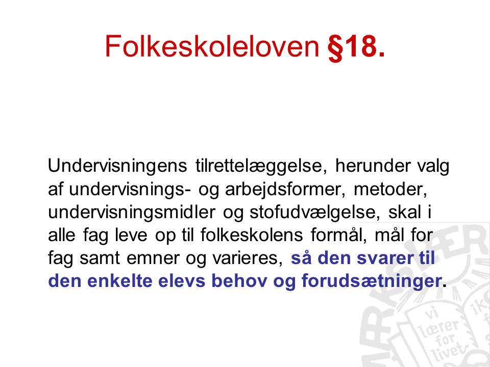 Folkeskoleloven §18.