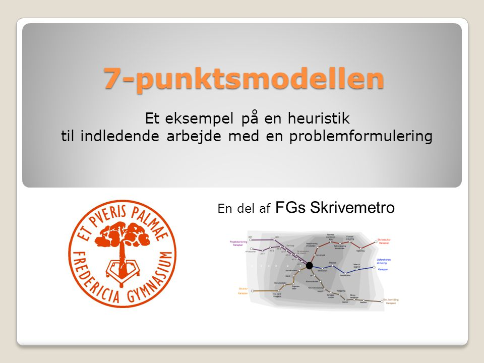 7-punktsmodellen Et eksempel på en heuristik
