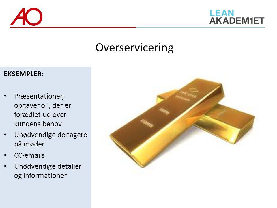 Overservicering EKSEMPLER:
