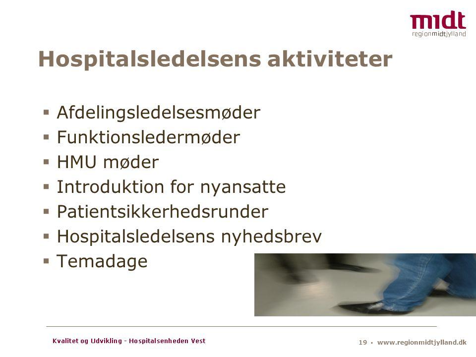 Hospitalsledelsens aktiviteter