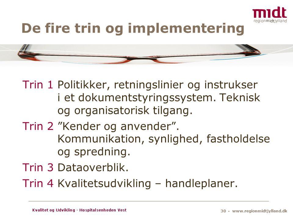 De fire trin og implementering