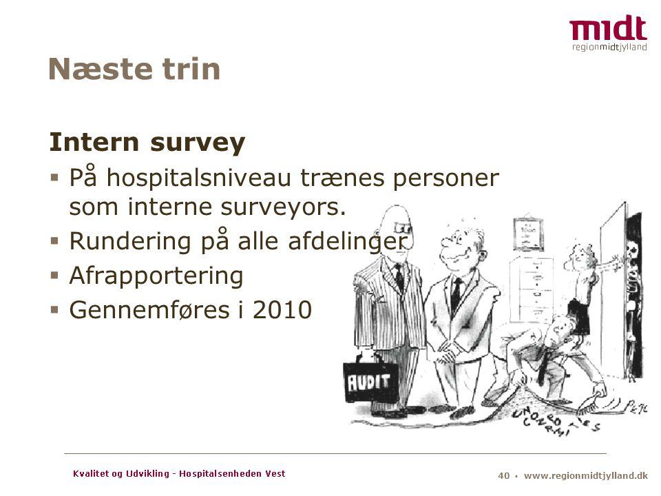 Næste trin Intern survey
