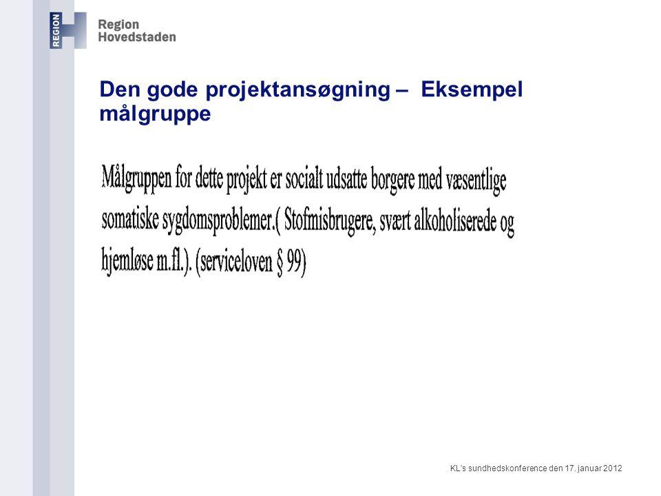 Den gode projektansøgning – Eksempel målgruppe