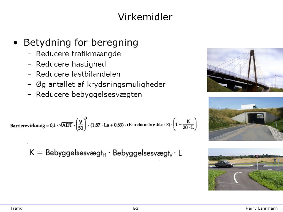 Betydning for beregning